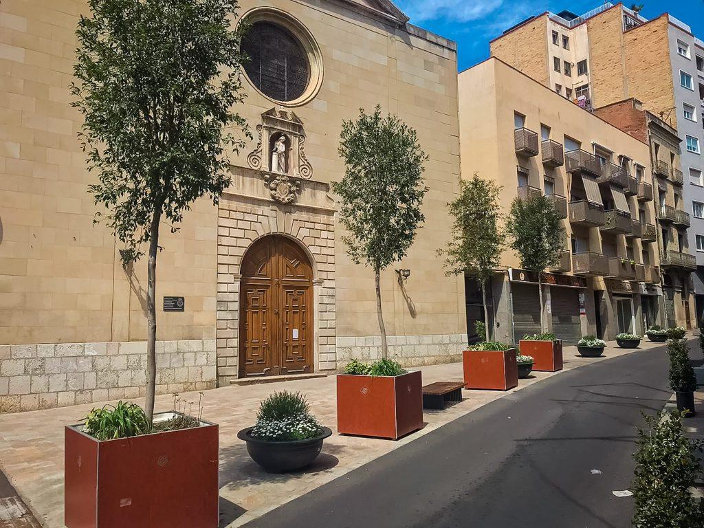 Setmana Santa i el coronavirus a Reus, plaça de la Sang..